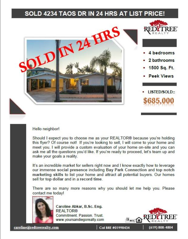 Caroline Abkar - Your San Diego Realtor - Buy Sell San Diego